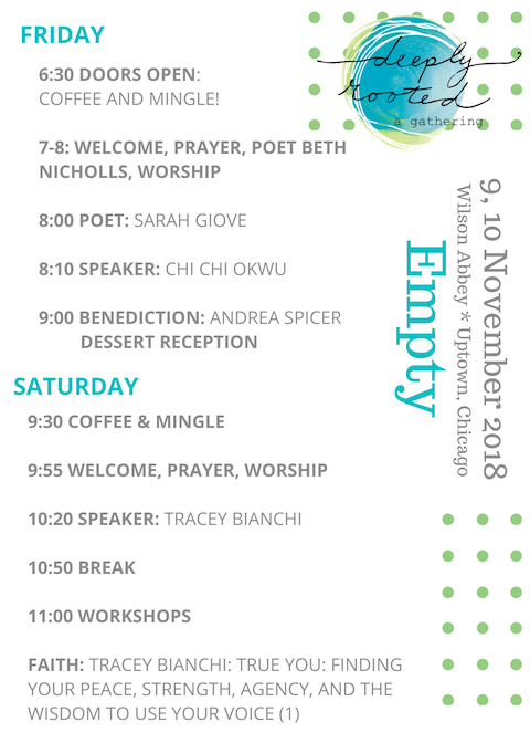 Deeply Rooted 2018 Program Page 1