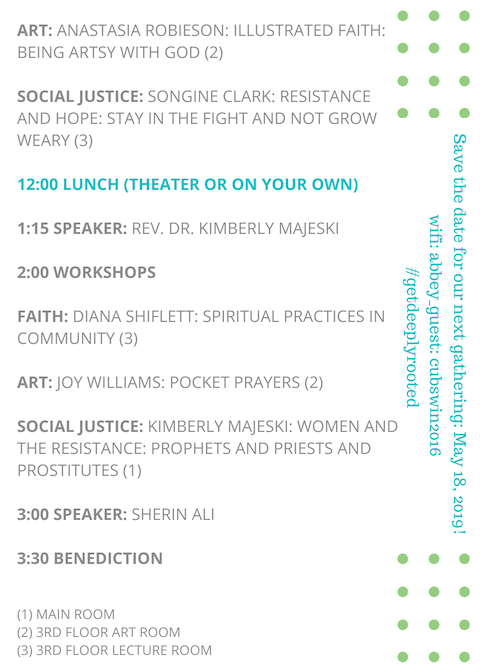 Deeply Rooted 2018 Program Page 2